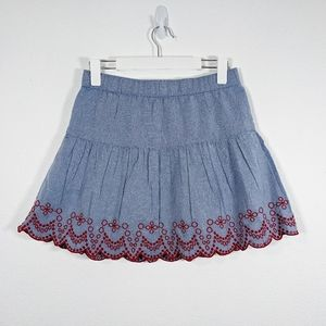 Vineyard Vines Embroidered Flounce Skirt Size XS